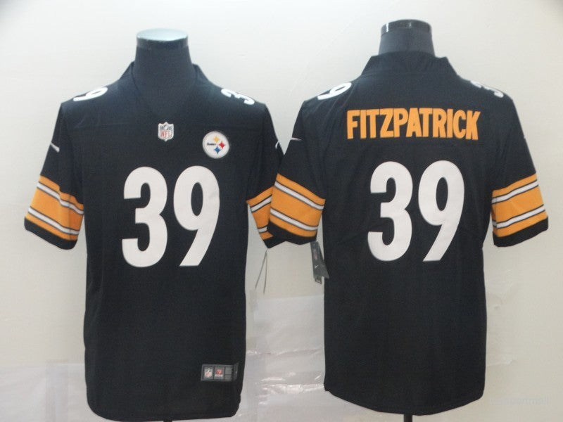 Men's Pittsburgh Steelers Minkah Fitzpatrick  Black Player Game Jersey