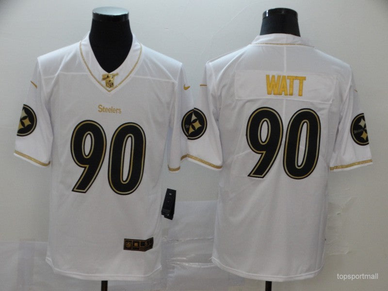 Men's Pittsburgh Steelers T.J. Watt White Game Player Jersey