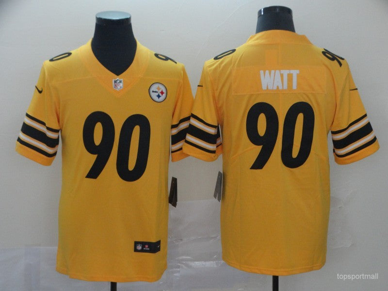 Men's Pittsburgh Steelers T.J. Watt Yellow Game Player Jersey