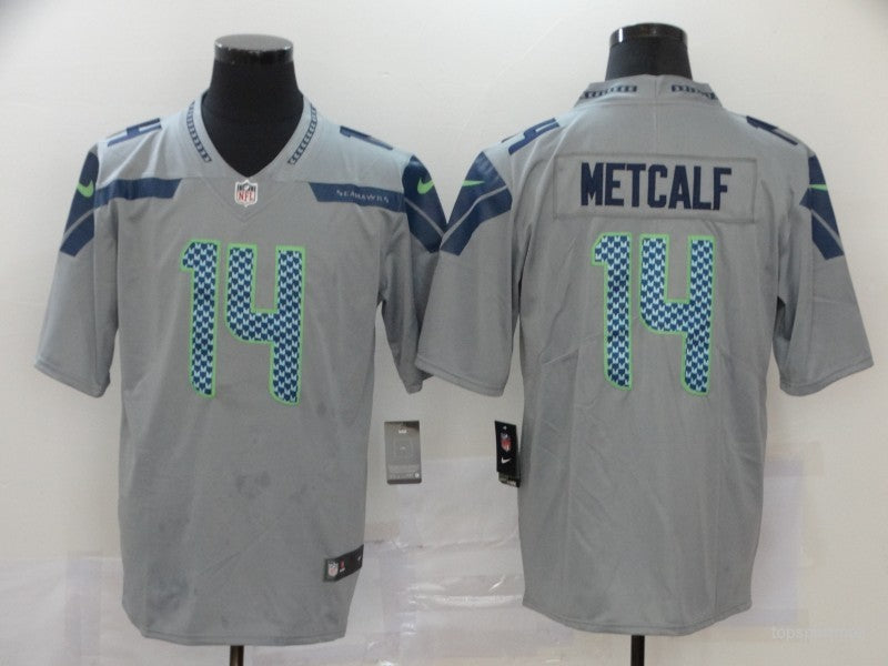 Men's Seattle Seahawks DK Metcalf Dark Gray Game Jersey