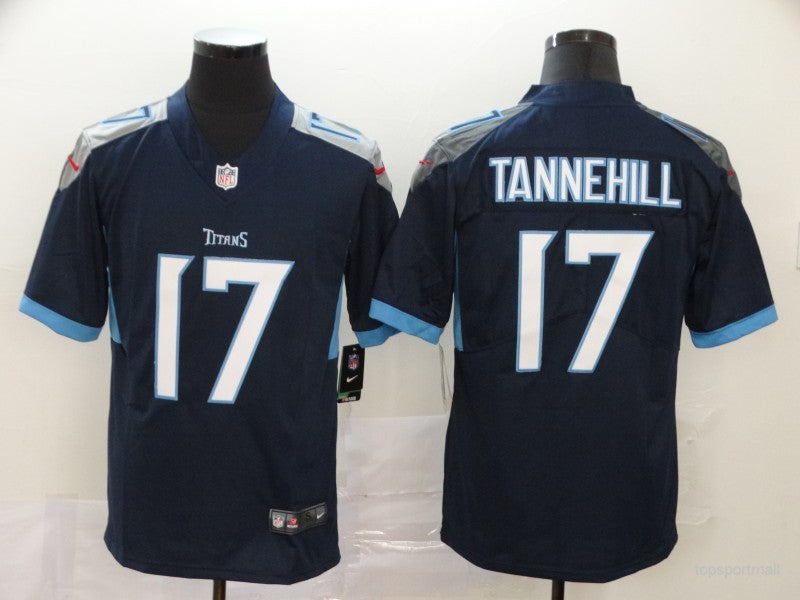Men's Tennessee Titans Ryan Tannehill NFL Pro Line Navy Logo Player Jersey