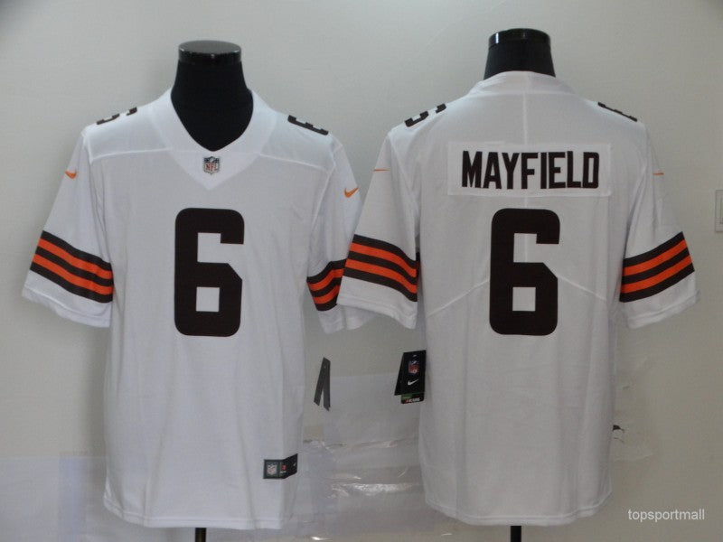 Men's Cleveland Browns Baker Mayfield White Game Player Jersey