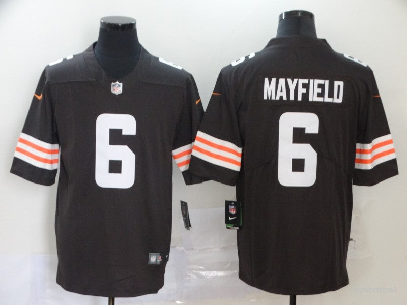 Men's Cleveland Browns Baker Mayfield Brown Game Player Jersey