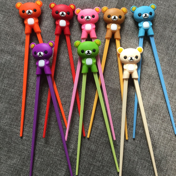 Multi Color Cute Bear Panda Learning Training Chopstick