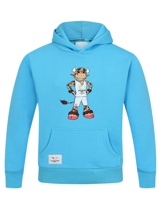 Perry Kids Canal Blue Hoodie - Birmingham 2022 Commonwealth Games Shop