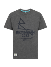 Load image into Gallery viewer, B2022 Charcoal Tonal logo tee - Birmingham 2022 Commonwealth Games Shop