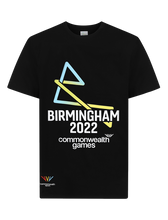 Load image into Gallery viewer, B2022 Adult Black Core Logo Tee - Birmingham 2022 Commonwealth Games Shop