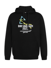 Load image into Gallery viewer, B2022 Adult Black Core Back Print Hoodie - Birmingham 2022 Commonwealth Games Shop