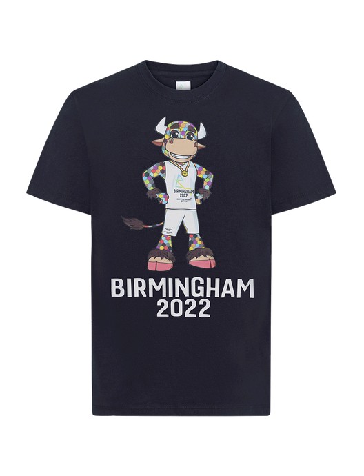 Perry Kids Navy Tee - Birmingham 2022 Commonwealth Games Shop