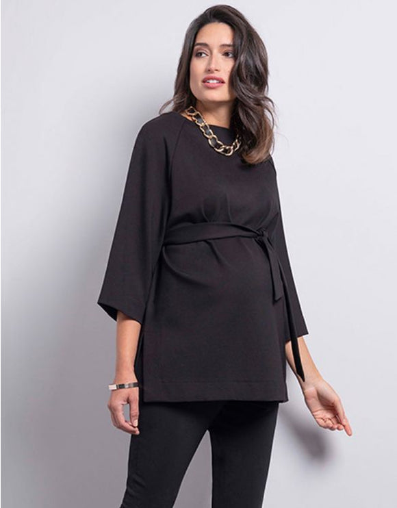 Emmerson Black Ponte Maternity Top
