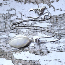 "Load image into Gallery viewer, ""It's a Felds-party!"": Blue Moonstone Necklace (G)"