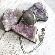 "Load image into Gallery viewer, ""It's a Felds-party!"": Purple Labradorite Necklace (E)"