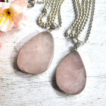 "Load image into Gallery viewer, ""A Quartz By Any Other Name"": Rose Quartz Necklaces"