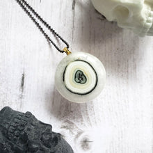 "Load image into Gallery viewer, ""An Eye for an Eye"": Solar Quartz with Eye Design Necklace"