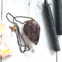 "Load image into Gallery viewer, ""A Rose By Any Other Name"": Rhodonite Necklace"