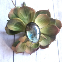 "Load image into Gallery viewer, ""Alright, Alright, Labradorite"": Labradorite Necklace with Mountain Design"