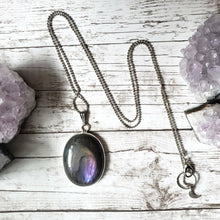 "Load image into Gallery viewer, ""It's a Felds-party!"": Purple Labradorite Necklace (A)"