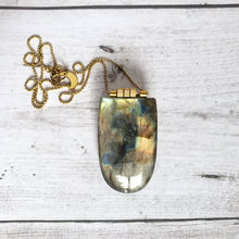 "Load image into Gallery viewer, ""Eeek! A Flasher!"": Labradorite Necklace"