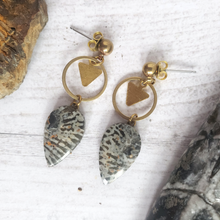 "Load image into Gallery viewer, ""Coral Chorus"": Fossilized Coral Earrings"