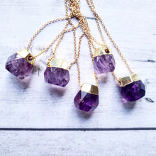 "Load image into Gallery viewer, ""Bauble, Bauble, Toil and Trouble"": Amethyst Necklaces"