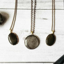 "Load image into Gallery viewer, ""Victorian Victory"": Metallic Sheen Obsidian Necklaces"
