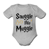 Snuggle this Muggle Korte Mouwen - heather grey