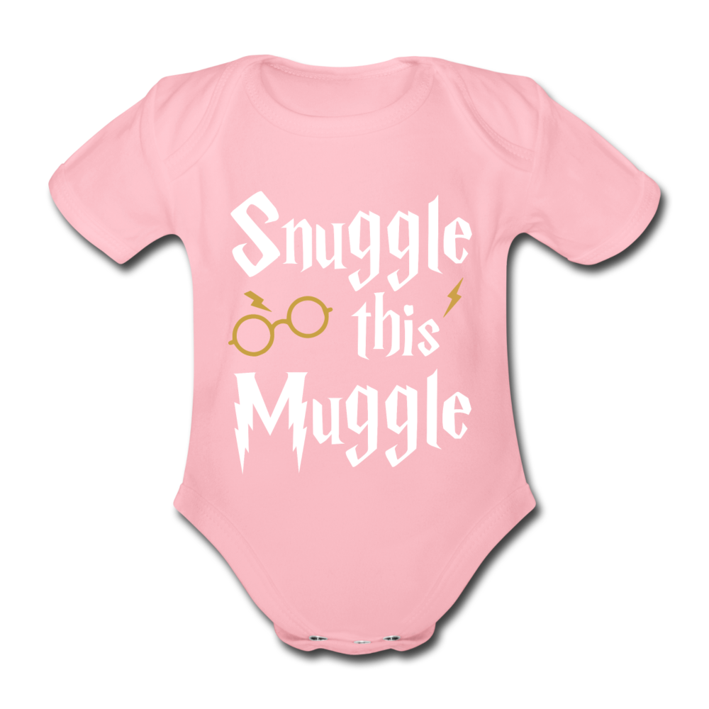 Snuggle this Muggle Wit Goud Korte Moouwen - light pink