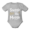 Snuggle this Muggle korte mouwen SPOD - heather grey