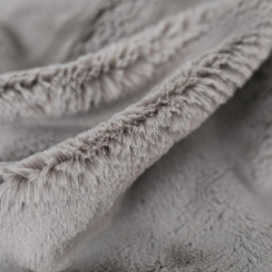 Saranoni Gray Mink Grand Faux Fur Extra Large Throw Blanket