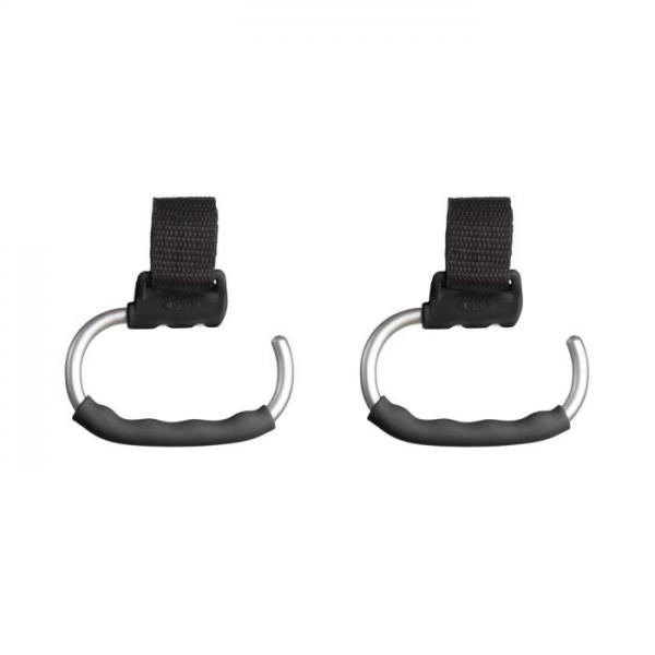 HANDY STROLLER HOOKS- GRAY - 2 PACK