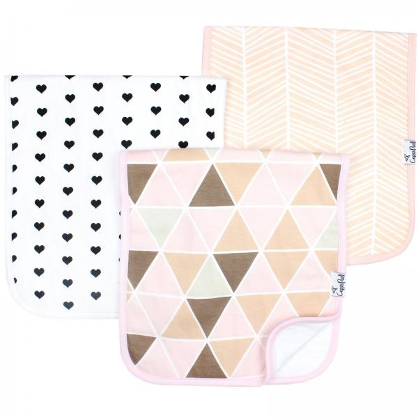 Burp Cloth - Blush Set