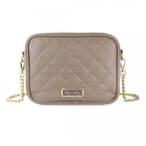DOUBLE TAKE™ CROSSBODY DIAPER BAG TAUPE