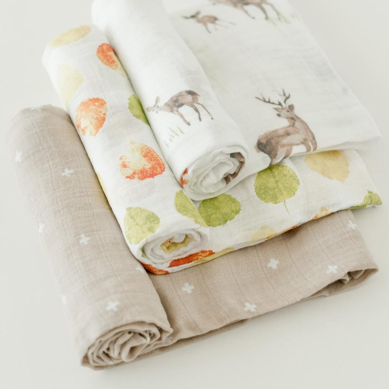 Little Unicorn Cotton Swaddle Set - Oh Deer!