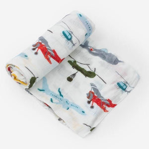 Little Unicorn Deluxe Muslin Swaddle Blanket - Air Show