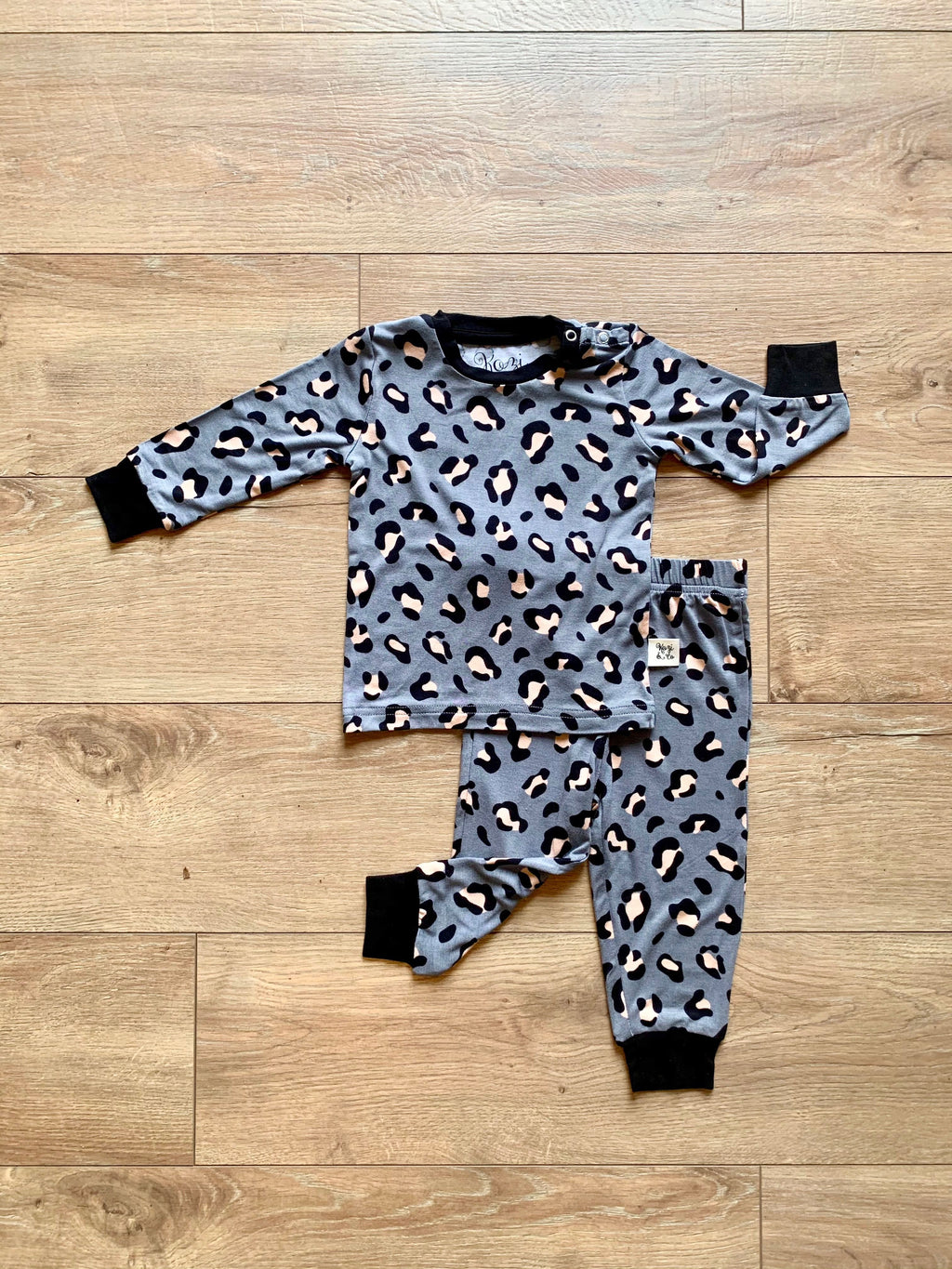Long Sleeve Set Lana Leopard Gray
