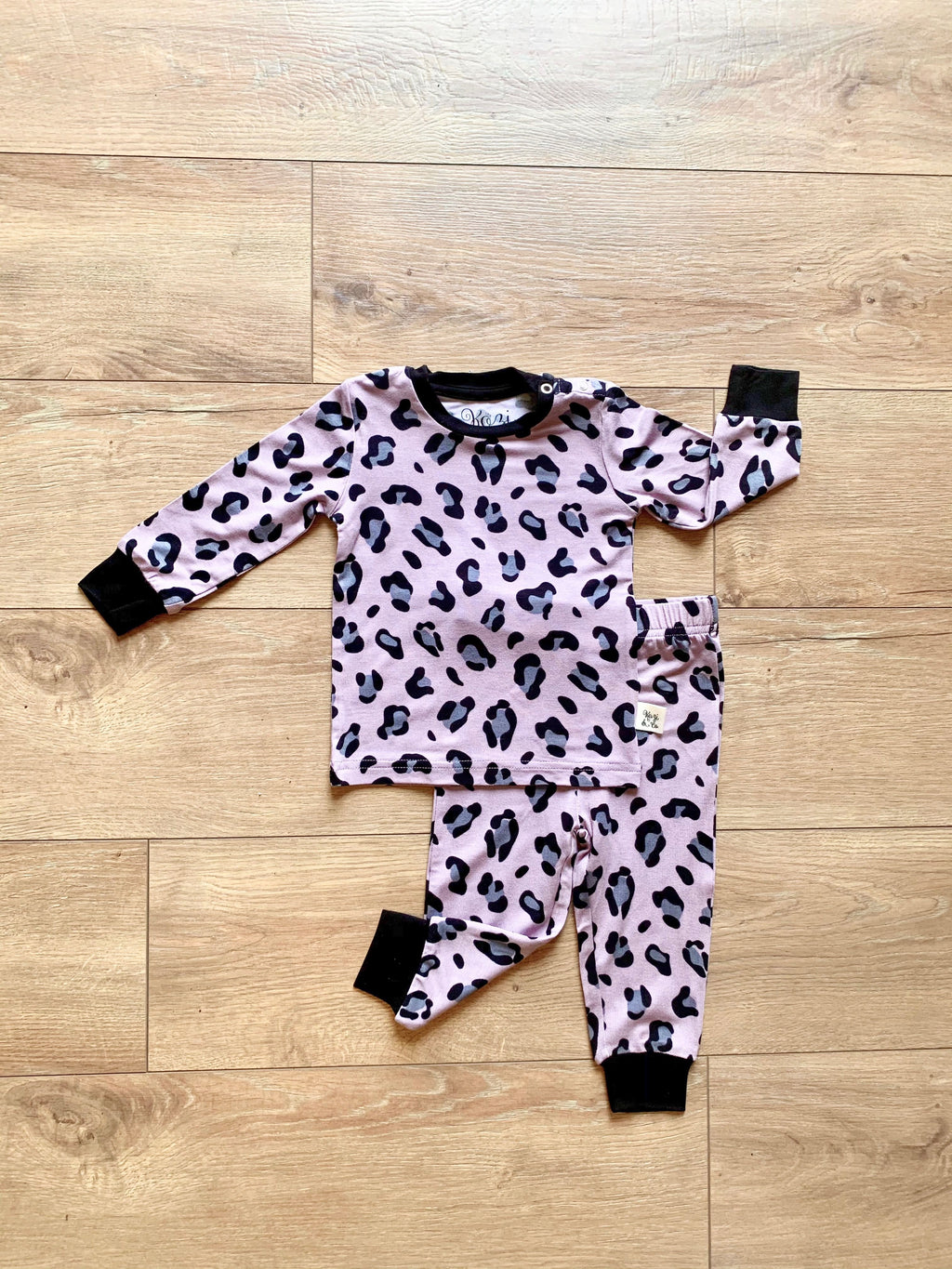 Long Sleeve Set Lana Leopard Pink