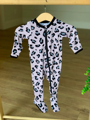 Footed Pajama Lana Leopard Pink