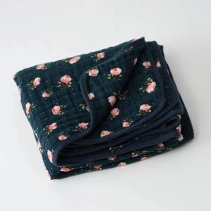 Little Unicorn Cotton Muslin Quilt - Midnight Rose