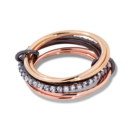 Three Bands Zircon Ring