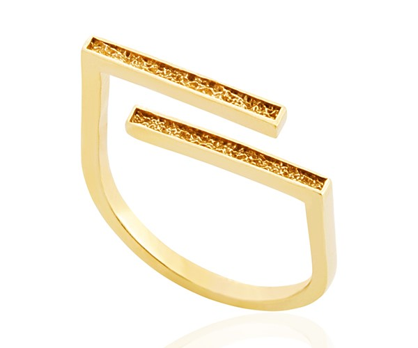Cupid Double Bar Ring