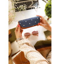Load image into Gallery viewer, Blue Heart Sunglass Case