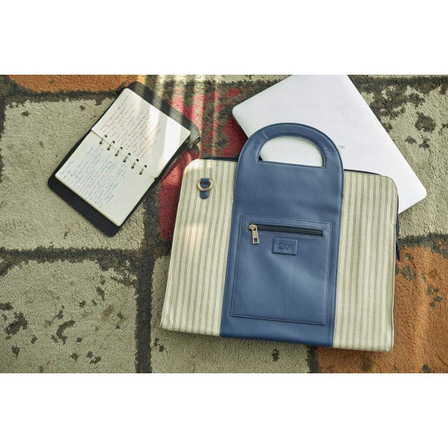 Blue Handy Laptop Bag