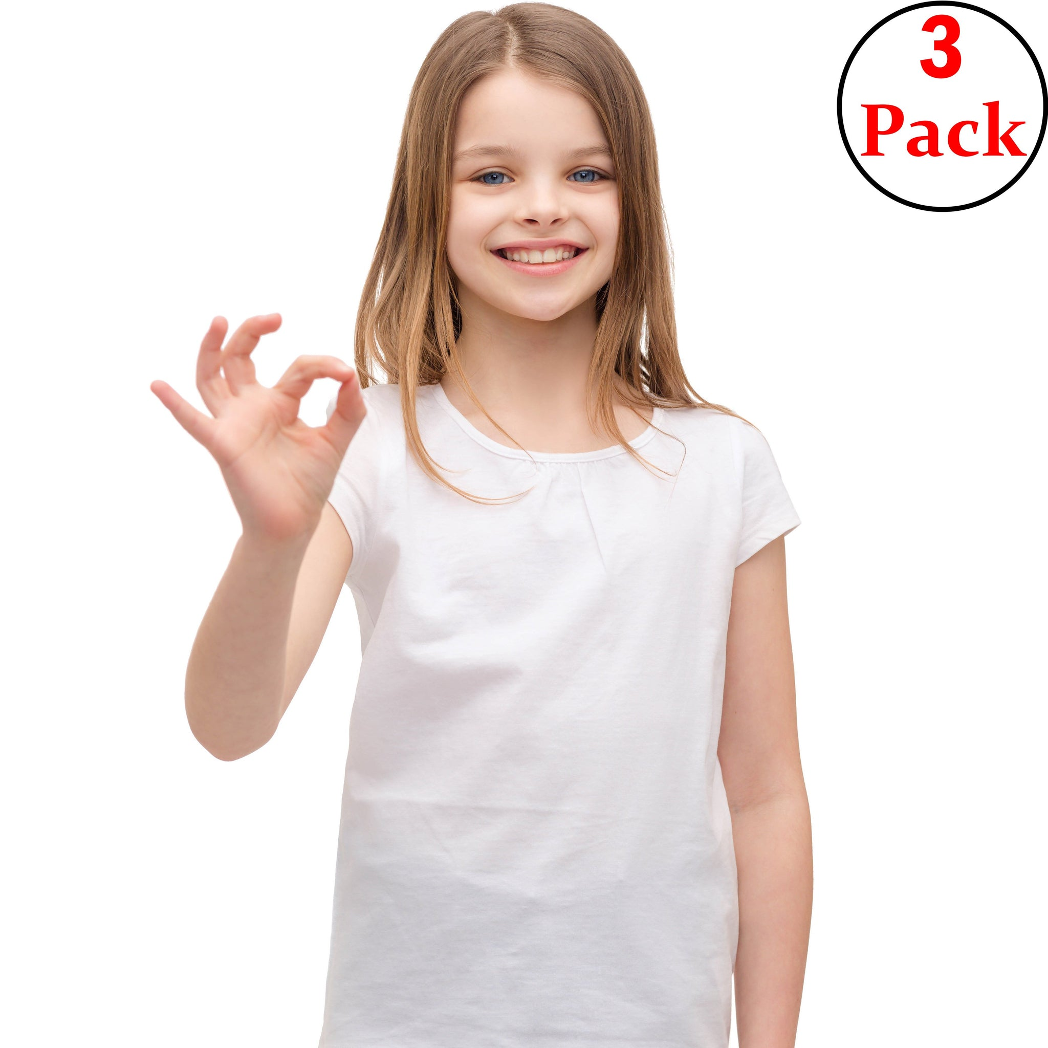 100% Cotton Girls' Half Sleeve Undershirt