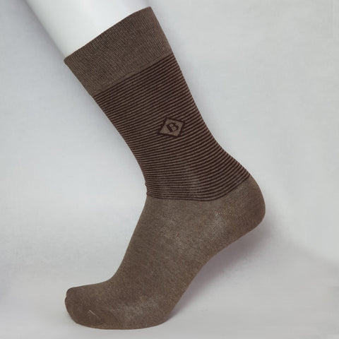 Men Crew Patterned, Spandex Socks