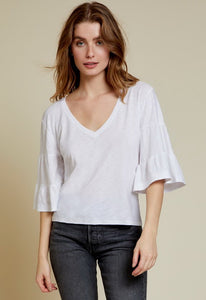 Nation Ltd Enna Tiered V-Neck Top