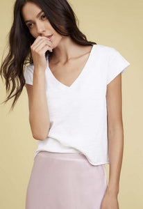 Nation Ltd Grace Deep V Boxy Crop Tee