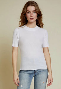 Nation Ltd Ida Mock Neck Tee