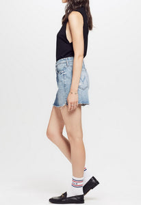MOTHER The Vagabond Mini Fray Skirt