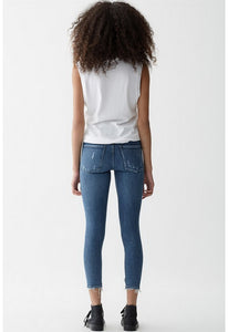 AGOLDESophie Crop Jean With Chewed Hem and Waistband
