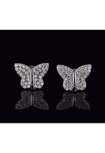 SHOP PAIGE Butterfly Crystal Studs